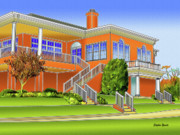 Mansion Digital Art - Rolling Road Golf Club by Stephen Younts