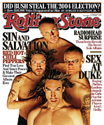 Covers Metal Prints - Rolling Stone Cover - Volume #1002 - 6/15/2006 - Red Hot Chili Peppers Metal Print by Matthew Rolston
