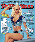 Christina Posters - Rolling Stone Cover - Volume #1007 - 8/24/2006 - Christina Aguilera Poster by Matthew Rolston