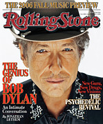 Roll Framed Prints - Rolling Stone Cover - Volume #1008 - 9/7/2006 - Bob Dylan Framed Print by Matthew Rolston