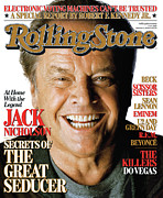 Roll Framed Prints - Rolling Stone Cover - Volume #1010 - 10/5/2006 - Jack Nicholson Framed Print by Matthew Rolston