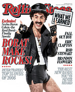 Featured Framed Prints - Rolling Stone Cover - Volume #1014 - 11/30/2006 - Borat Framed Print by Robert Trachtenberg