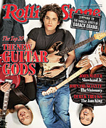 John Mayer Framed Prints - Rolling Stone Cover - Volume #1020 - 2/22/2007 - John Mayer, Derek Trucks, John Frusciante Framed Print by Matthew Rolston