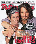 Featured Framed Prints - Rolling Stone Cover - Volume #1027 - 5/31/2007 - Johnny Depp and Keith Richards Framed Print by Matthew Rolston