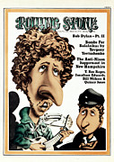 Bob Dylan Framed Prints - Rolling Stone Cover - Volume #104 - 3/15/1972 - Bob Dylan Framed Print by Robert Grossman