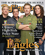 Eagles Framed Prints - Rolling Stone Cover - Volume #1053 - 5/29/2008 - The Eagles Framed Print by Max Vadukul