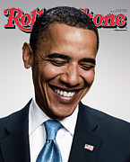 Barack Prints - Rolling Stone Cover - Volume #1057 - 7/10/2008 - Barack Obama   Print by Peter Yang