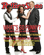 Sarah Framed Prints - Rolling Stone Cover - Volume #1061 - 9/18/2008 - Chris Rock, Tina Fey, Sarah Silverman Framed Print by Robert Trachtenberg