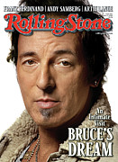Springsteen Framed Prints - Rolling Stone Cover - Volume #1071 - 2/5/2009 - Bruce Springsteen Framed Print by Albert Watson
