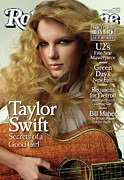 Taylor Swift Metal Prints - Rolling Stone Cover - Volume #1073 - 3/5/2009 - Taylor Swift Metal Print by Peggy Sirota