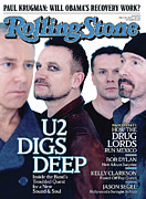U2 Photo Framed Prints - Rolling Stone Cover - Volume #1074 - 3/19/2009 - U2 Framed Print by Anton Corbijn