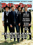 Kings Of Leon Prints - Rolling Stone Cover - Volume #1077 - 4/30/2009 - Kings of Leon Print by Max Vadukul
