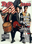 Green Day Framed Prints - Rolling Stone Cover - Volume #1079 - 5/28/2009 - Green Day Framed Print by Sam Jones
