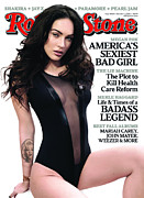 Rolling Stone Magazine Framed Prints - Rolling Stone Cover - Volume #1088 - 10/1/2009 - Megan Fox Framed Print by Mark Seliger