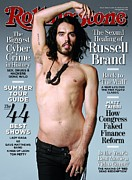 Roll Framed Prints - Rolling Stone Cover - Volume #1106 - 6/10/2010 - Russell Brand Framed Print by Wenner Theo