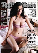Rolling Stone Magazine Prints - Rolling Stone Cover - Volume #1111 - 8/19/2010 - Katy Perry Print by Seliger Mark