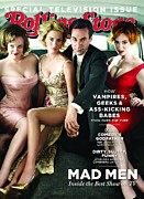 Roll Framed Prints - Rolling Stone Cover - Volume #1113 - 9/16/2010 - Cast of Mad Men Framed Print by Trachtenberg Robert