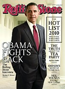 Barack Obama  Prints - Rolling Stone Cover - Volume #1115 - 10/14/2010 - Barack Obama Print by Seliger Mark