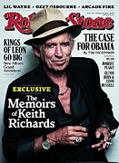 Keith Richards Prints - Rolling Stone Cover - Volume #1116 - 10/28/2010 - Keith Richards Print by Lindbergh Peter