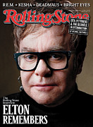 Elton John Art - Rolling Stone Cover - Volume #1124 - 2/17/2011 - Elton John by Mark Seliger
