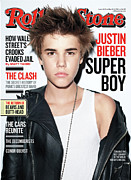 Justin Bieber Prints - Rolling Stone Cover - Volume #1125 - 3/3/2011 - Justin Bieber Print by Terry Richardson