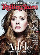 Adele Acrylic Prints - Rolling Stone Cover - Volume #1129 - 4/28/2011 - Adele Acrylic Print by Simon Emmett