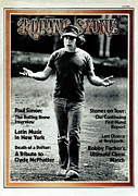 Featured Framed Prints - Rolling Stone Cover - Volume #113 - 7/20/1972 - Paul Simon Framed Print by Peter Simon