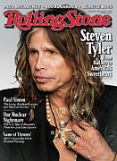 Covers Prints - Rolling Stone Cover - Volume #1130 - 5/12/2011 - Steven Tyler Print by Theo Wenner