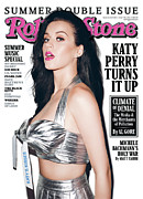 Katy Perry Framed Prints - Rolling Stone Cover - Volume #1135 - 7/7/2011 - Katy Perry Framed Print by Terry Richardson