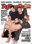 Hot Peppers Framed Prints - Rolling Stone Cover - Volume #1138 - 9/1/2011 - Red Hot Chili Peppers Framed Print by Terry Richardson