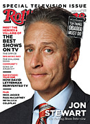 Stewart Metal Prints - Rolling Stone Cover - Volume #1140 - 9/29/2011 - Jon Stewart Metal Print by Albert Watson