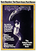 Jeff Photo Prints - Rolling Stone Cover - Volume #120 - 10/26/1972 - Jeff Beck Print by Herbie Greene