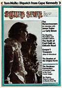 James Photo Metal Prints - Rolling Stone Cover - Volume #125 - 1/4/1973 - James Taylor and Carly Simon Metal Print by Peter Simon