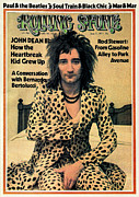 Roll Framed Prints - Rolling Stone Cover - Volume #137 - 6/21/1973 - Rod Stewart Framed Print by Charles Gatewood