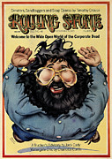 Jerry Garcia Prints - Rolling Stone Cover - Volume #148 - 11/22/1973 - Jerry Garcia Print by Robert Grossman