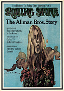 Featured Framed Prints - Rolling Stone Cover - Volume #149 - 12/6/1973 - Gregg Allman Framed Print by Gilbert Stone