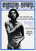 Mick Jagger Metal Prints - Rolling Stone Cover - Volume #15 - 8/10/1968 - Mick Jagger Metal Print by Dean Goodhill