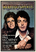 Mccartney Prints - Rolling Stone Cover - Volume #153 - 1/31/1974 - Paul and Linda McCartney Print by Francesco Scavullo