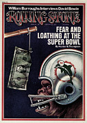 Fear Metal Prints - Rolling Stone Cover - Volume #155 - 2/28/1974 - Fear and Loathing at the Super Bowl Metal Print by Unknown