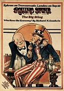 Featured Art - Rolling Stone Cover - Volume #162 - 6/6/1974 - The Economy by Peter Palombi