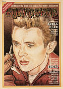 Dean Framed Prints - Rolling Stone Cover - Volume #163 - 6/20/1974 - James Dean Framed Print by John van Hamersveld
