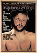 Clapton Framed Prints - Rolling Stone Cover - Volume #165 - 7/18/1974 - Eric Clapton Framed Print by Philip Hays