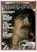 Roll Framed Prints - Rolling Stone Cover - Volume #176 - 12/19/1974 - George Harrison Framed Print by Mark Focus