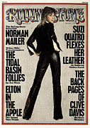 Featured Prints - Rolling Stone Cover - Volume #177 - 1/2/1975 - Suzi Quatro Print by Peter Gowland