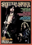 Stone Framed Prints - Rolling Stone Cover - Volume #182 - 3/13/1975 - Jimmy Page and Robert Plant Framed Print by Neal Preston