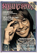 Roll Framed Prints - Rolling Stone Cover - Volume #186 - 5/8/1975 - John Denver Framed Print by Francesco Scavullo