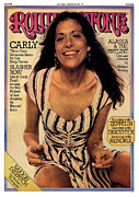 Featured Framed Prints - Rolling Stone Cover - Volume #187 - 5/22/1975 - Carly Simon Framed Print by Tony Lane