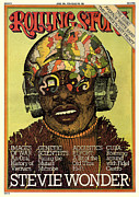 Rolling Stone Magazine Art - Rolling Stone Cover - Volume #189 - 6/19/1975 - Stevie Wonder by Milton Glaser