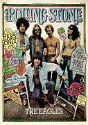 Rolling Stone Magazine Framed Prints - Rolling Stone Cover - Volume #196 - 9/25/1975 - The Eagles Framed Print by Neal Preston