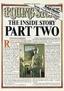 Story Framed Prints - Rolling Stone Cover - Volume #200 - 11/20/1975 - The Patty Hearst Story, Part Two Framed Print by Tony Lane